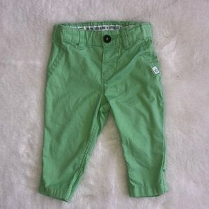 H&M like green pants size 4-6 months